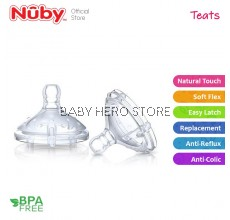 Nuby Natural Touch Silicone Replacement Nipples (2pcs-Pack)
