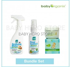 Baby Organix Nature First Aid Cream + Naturally Kinder Sanitiser (Bundle Set)