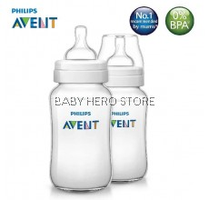 Philips Avent Classic Plus Feeding Bottle 11oz/330ml (Twin)