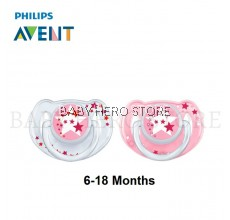 Philips Avent Soother Night Time (6-18 Months) - Pink
